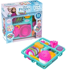 Dede toys - Miajima Disney Frozen Oyuncak Bulaşık Sepeti Seti 21 Parça