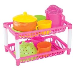 Dede toys - Oyuncak Plastik İki Katlı Mutfak Sepeti