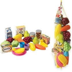 Dede toys - Plastik Meyve Sebze Oyuncak Fileli