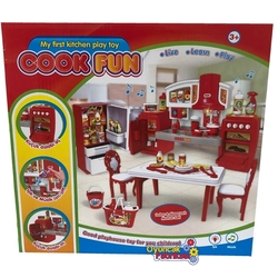 Vardem Oyuncak Mutfak Seti Müzikli Ve Işıklı Aksesuarlı Cook Fun - Thumbnail