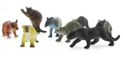 12'Li Oyuncak Vahşi Hayvan Seti Jaguar'lı Lt326B