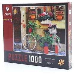 Adam Games - Adam Games Puzzle 1000 Parça Bisiklet ve Çiçekler