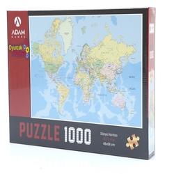 Adam Games - Adam Games Puzzle 1000 Parça Dünya Haritası