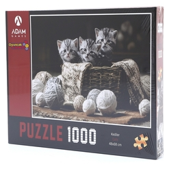 Adam Games - Adam Games Puzzle 1000 Parça Kediler