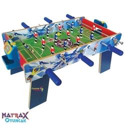 Matrax OyuncakFabrikasi - Ahşap Langırt Futbol Masa Maçı Ayaklı (3 Kollu)