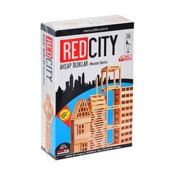 Redka - Akıl Oyunları Red City Ahşap Bloklar 100 Parça REDKA