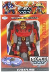 MEGA - Araca Dönüşen Kırmızı Güçlü Robot