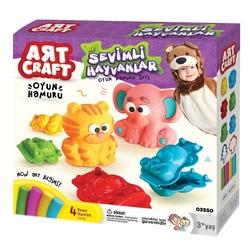Art Craft - Art Craft 3 D Sevimli Hayvanlar Hamur Seti 200 gr