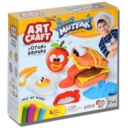 Art Craft - Art craft Çılgın Oyuncak Mutfak Kalıplı Oyun Hamuru Seti 200 Gr