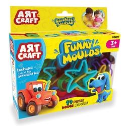 Art Craft - Art Craft Eğlenceli Süper Oyun Hamuru Kalıpları 19 Parça
