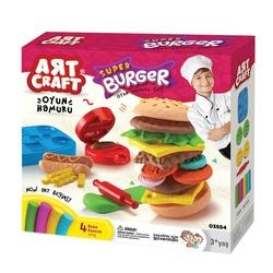 Art Craft - Art craft Hamburger Kalıplı Oyun Hamuru Seti 200 Gr