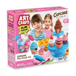 Art Craft - Art Craft Kap Kek Kalıplı Oyun Hamur Seti Aksesuarlı 3 Boyutlu Resimli Karton