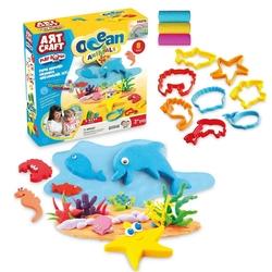 Art Craft - Art Craft Okyanus Hayvanları Seti Oyun Hamuru 150 gr