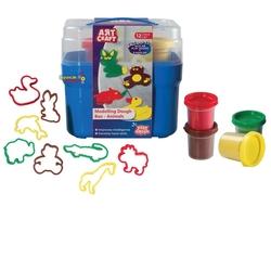 Art Craft - Art Craft Oyun Hamur Sepeti Hayvanlar 12 Parça 4 Renk Hamur