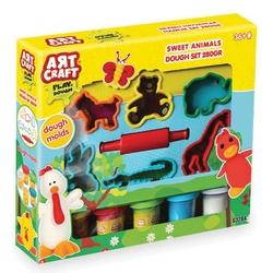 Art Craft - Art Craft Oyun Hamur Seti Sevimli Hayvanlar Kalıplı 336 gr 6 'lı Paket