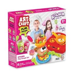 Art Craft - Art Craft Oyuncak Mutfak Ocaklı Oyun Hamuru Seti 12 Parça