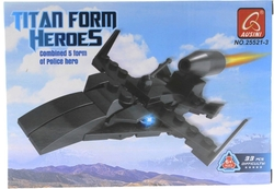 AUSINI - Ausini 33 Parça Titan Polis Savaş Uçağı 25521-3