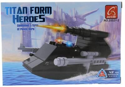 Ausini 43 Parça Titan Polis Hücumbot 25521-2