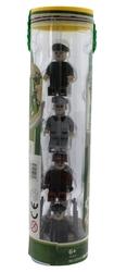 AUSINI - Ausini Army 8'li Tüp Kutu Figür Seti Gri