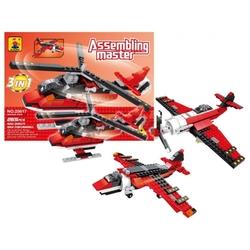 AUSINI - Ausini Assembling Master 3 in 1 265 Parça Hava Araçları Seti