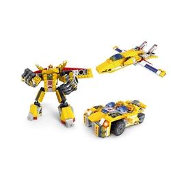 AUSINI - Ausini Assembling Master 3 in 1 275 Parça Sarı Dönüşen Robot