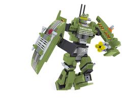 AUSINI - Ausini Outer Space 276 Parça Yeşil Robot