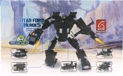 AUSINI - Ausini Titan 292 Parça Polis Robot 25521-R
