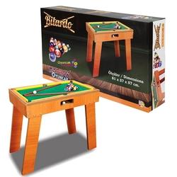 Matrax OyuncakFabrikasi - Ayaklı Ahşap Bilardo Oyun Seti 61 x 37 x 57 cm
