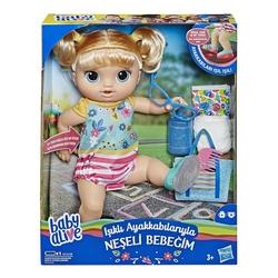 Baby Alive - Baby Alive Işıklı Ayakkabılarıyla Neşeli Bebeğim Hasbro-E5247
