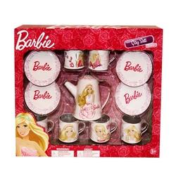 Barbie - Barbie 13 Parça Kutulu Metal Çay Seti