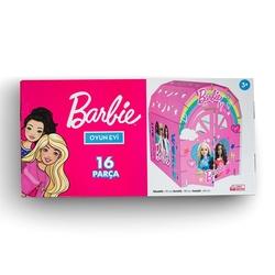 Vardem Oyuncak - Barbie 16 Parça Karton Oyun Evi