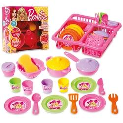 Dede toys - Barbie Bulaşık Yıkama Seti 21 Parça