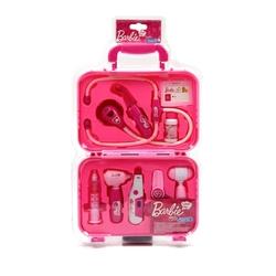 Barbie - Barbie Çantalı 9 Parça Sesli Işıklı Oyuncak Doktor Seti