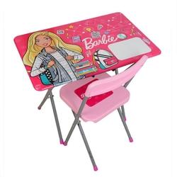 GoKidy Toys - Barbie Çocuk Ders Çalışma Masa Sandalye Seti