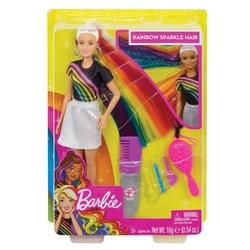 Barbie - Barbie Gökkuşağı Renkli Saçlar Bebeği FXN96