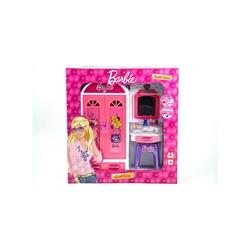 Vardem Oyuncak - Barbie Işıklı Gardıroplu Aynalı Makyaj Masası