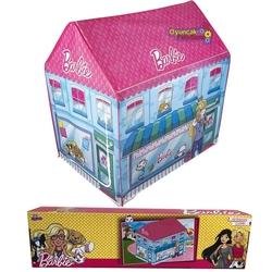 Barbie - Barbie Oyun Çadırı Veteriner Resimli Ev Şeklinde