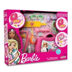Dede Toys - Barbie Oyuncak Doktor Çantası 10 Parça Çantalı Doktor Seti