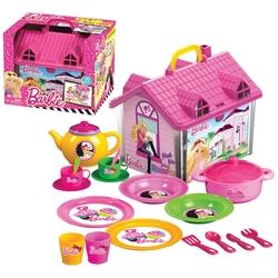 Dede toys - Barbie Oyuncak Ev ve Çay Seti Takımı 19 Parça