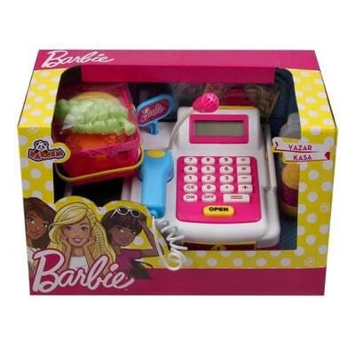 Barbie Oyuncak Yazar Kasa Aksesuarlı Market Kasası Hesap Makinalı