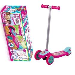 Furkan Toys - Barbie Üç Tekerlekli Frenli Scooter Lisanslı
