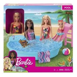 Barbie - Barbie ve Eğlenceli Havuzu /Barbienin Hayatı Mattel-GHL91