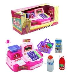 Vardem Oyuncak - Barbie Yazarkasa Mikrofonlu Market Kasası ve Hesap Makinesi