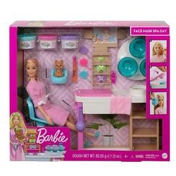 Barbie - Barbie Yüz Bakımı Yapıyor Oyun Seti /Barbie Wellness Mattel GJR84
