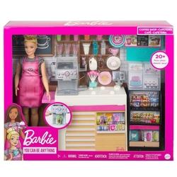 Barbie - Barbie'nin Kahve Dükkanı Oyun Seti /Barbie Ben Büyüyünce Mattel-GMW03