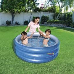Bestway - Bestway 51041 Şişme Büyük Havuz 3 Boğumlu Metalik Renk 150x53 Cm