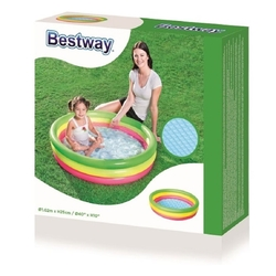 Bestway - Bestway 51104 Sunset Şişme Çocuk Havuzu Şişme Tabanlı 102x25 Cm