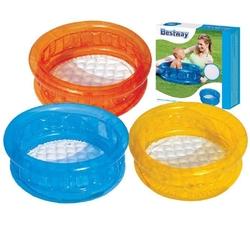 Bestway - Bestway 51112 3 Şişme Bebek Havuzu 3 Boğumlu Şişme Tabanlı 70x30 Cm