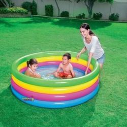Bestway - Bestway 51117 Şişme Çocuk Havuzu Dört Halkalı Renkli 157x46cm