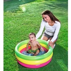 Bestway - Bestway 51128 Şişme Havuz Bebekler Için Renkli 70x24 Cm Şişme Tabanlı